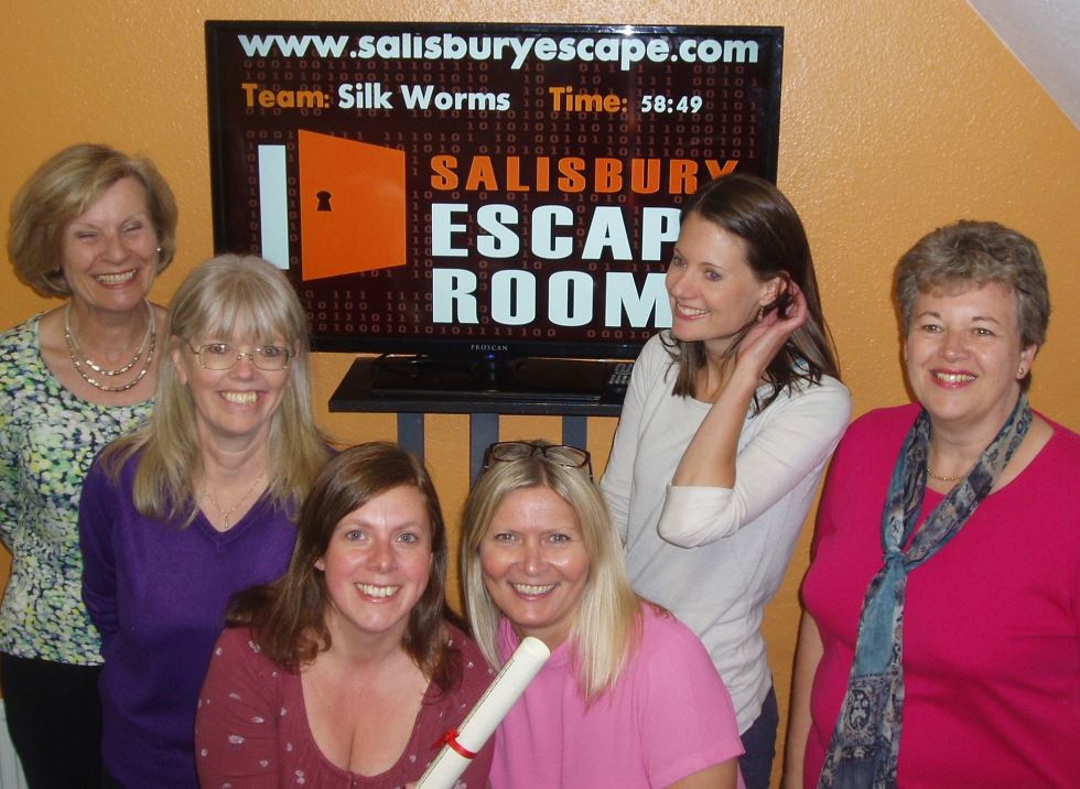 Silkworms Team Fun at the Escape Rooms